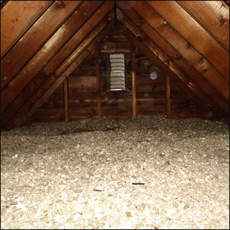 Vermiculite attic insulation.